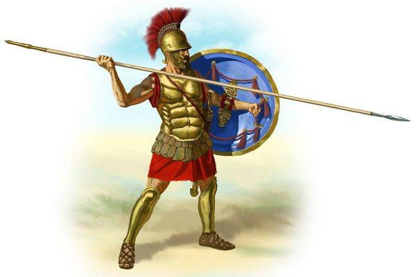 Römischer Soldat mit Waffenrüstung