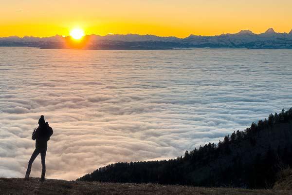 Die richtige Sichtweise - Berge im Wolkenmehr
